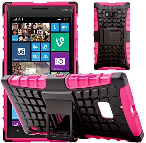 G-Shield Cover per Nokia Lumia 930, Custodia Protettiva Anti-Urto con Supporto, Rosa