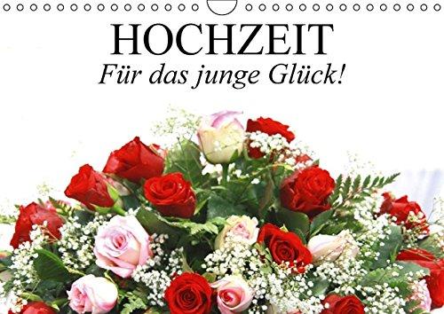 Hochzeit. Für das junge Glück! (Wandkalender immerwährend DIN A4 quer): Ein Hochzeitsplaner für...