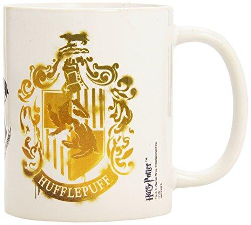 Harry Potter - Taza 320 Ml Hufflepuff Stencil Crest 14