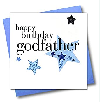Claire Giles Hearts And Stars Happy Birthday Godfather Card