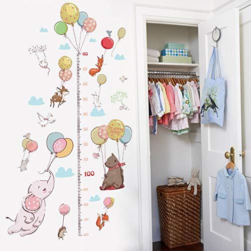 Kreative Ballon Tier Junge Höhe Wandaufkleber Kind Schlafzimmer Kleiderschrank Kaninchen Wachstum Brief Lineal Für Zuhause 60X90 Cm - Brief X Ballon