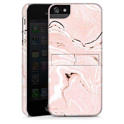 Apple iPhone X Silikon Hülle Case Schutzhülle Marmoriert Marmor Marble Premium Case StandUp