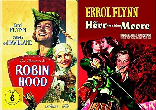 Die Abenteuer des Robin Hood + Der Herr der sieben Meere [Errol Flynn DVD Set]