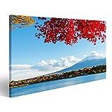 islandburner Bild Bilder auf Leinwand Mt. Fuji im Herbst