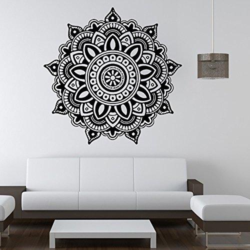 Wandaufkleber Mandala Blume indischen Schlafzimmer Wandtattoo Kunst Aufkleber Wandhaupt Vinyl Familie Hausgarten Küche Zubehör dekorative Aufkleber Wandbilder