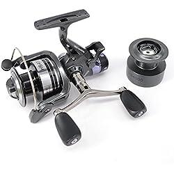 Hirisi Tackle® HB4000 - Carrete de pesca para pesca de carpas (bobina libre, incluye carrete extra gratuito)