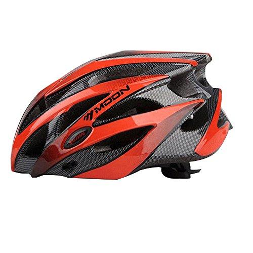 Rightvp Casco Bici Unisex per Adulto Caschetto Leggero per Ciclismo Rosso M
