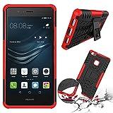 XEPTIO Huawei P9 LITE 2016 4G/LTE Silikon case rot Shockproof Cover - Zubehör Etui Huawei P9 LITE Dual SIM Schutzhülle (Handytasche red) Accessories