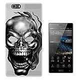 C01497 - Cigar Smoking Skull Design Elephone M2 Fashion