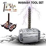 Knowledgi Thor Hammer Werkzeugkoffer - Tägliche Reparatur Werkzeugkoffer Haushalts- WerkzeugkofferHandwerkzeug-Kit mit Thor-Hammerkoffer