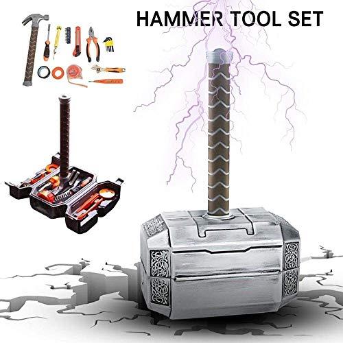 Werkzeugkoffer - Tägliche Reparatur Werkzeugkoffer Haushalts- WerkzeugkofferHandwerkzeug-Kit mit Thor-Hammerkoffer