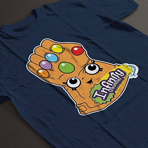 Infinity Gauntlet Once You Shop Guardians Of The Galaxy Women's T-Shirt Navy blue