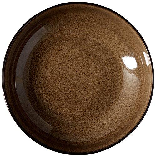 Oneida Essensservice Rustikale Kastanie Tiefer, runder Teller, 26 cm 10.25