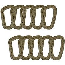 SUMERSHA 10PCS 80mm chiusura moschettone clip gancio portachiavi Anello titolare, marrone