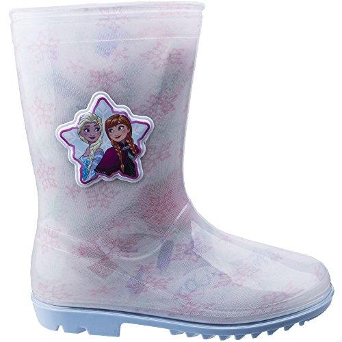 Leomil Girls Elsa Snow Flake Waterproof Lightweight Wellington Boots