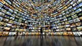 druck-shop24 Wunschmotiv: Curved video wall #96479064 - Bild auf Leinwand - 3:2-60 x 40 cm/40 x 60 cm