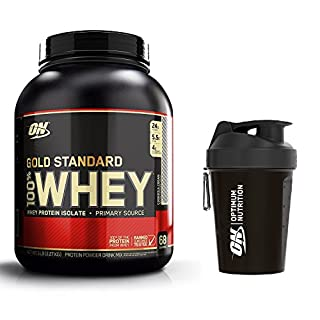 Optimum Nutrition Gold Standard Whey Protein Powder, Cookies and Cream, 2.27 kg with Shaker