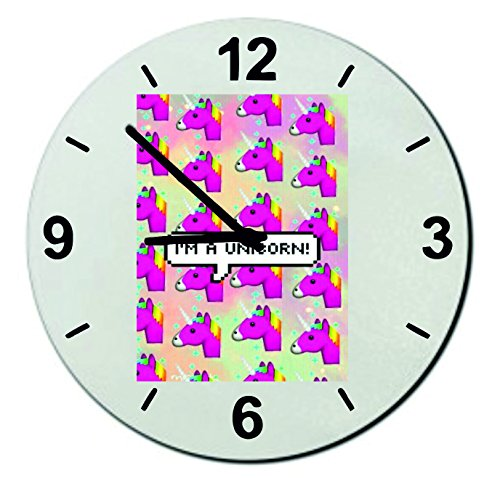Verre-Montre-Dans-une-tte-de-licorne-Licorne-rose-Regarder-18-20-30-Smiley-Emoji-Astuces-de-Nol