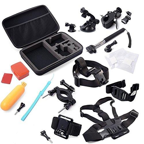 Vococal® 15 Stück Outdoor Sportarten Digitalkameras Zubehör-Sets für Gopro Hero 1 / 2 / 3 / 3 + / 4 – Gopro Hero Kamerazubehör Halterungen für Actionkameras