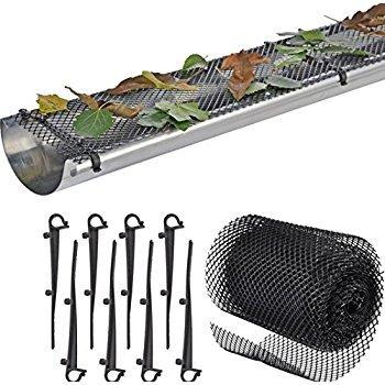 Gosse Wachen mit 15Clip Haken für einfache Installation. 6,5in Breite, 18ft Lang. Kunststoff Hohe Widerstandsfähigkeit. 2Stück. -