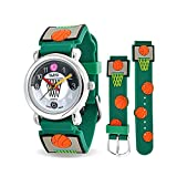 Die besten Kid Uhren - Green Basketball Hoop Sports Kids Watch Stainless Steel Bewertungen