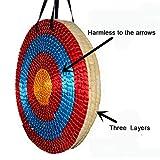 Outdoor-shooter Tradicional Sólido Paja Redonda Tiro con Arco Tiro al Arco Arco de Color Cuerda Objetivo Cara Tres Capas para la práctica de Tiro