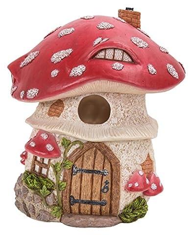 traditionnel Rouge Champignon birdhouse