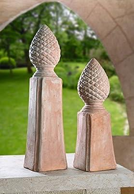 Terracotta-Säule, groß von Frank Flechtwaren - Du und dein Garten