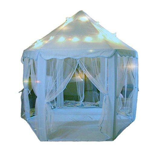 Kinder Fairy spielen Zelt, Kinder Kleinkinder Indoor und Outdoor Hexagon Prinzessin Schloss Spielhaus Zelte mit LED Star Lights (Prinzessin Kleinkind-zelt)