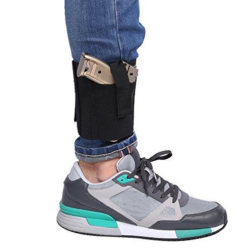 Knöchel Holster Verstellbare Polyester Elastische Pistolenholster um Knöchel mit Sicherem Riemen für G17 (Knöchel-riemen Elastischen)