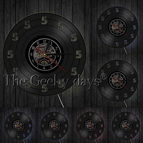 SSCLOCK Getränke Trinken Vinyl Schallplatte Wanduhr Tequila Zeit Wandkunst Vintage Wanduhr Trinken Bar Pub Wand Zeichen Wein Guy Geschenk -