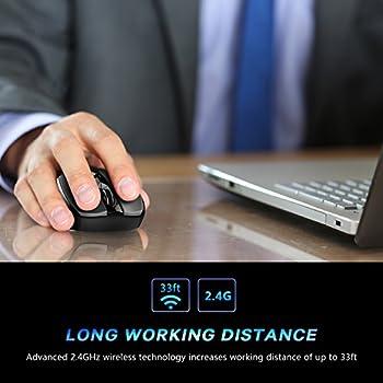 Victsing Mini Schnurlos Maus Wireless Mouse 2.4g 2400 Dpi 6 Tasten Optische Mäuse Mit Usb Nano Empfänger Für Pc Laptop Imac Macbook Microsoft Pro, Office Home 13
