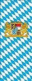 flaggenmeer® Flagge Bayern mit Wappen und Löwen 160 g/m² ca. 300 x 120 cm