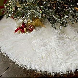 Kompassswc-Schneeweie-Plsch-Weihnachtsbaumdecke-Christbaumstnder-Teppich-Decke-Kunstfell-Christbaumdecke-Weihnachtsbaum-Rock-Tannenbaum-Unterlage