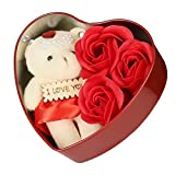#7: ShopAIS Unique Gift for your LOVED ONCE (Heart shaped Box with Teddy and Roses) - Multicolor