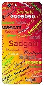 Sadgati (Liberation) Name & Sign Printed All over customize & Personalized!! Protective back cover for your Smart Phone : Samsung Galaxy A-3