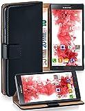 MoEx® Booklet mit Flip Funktion [360 Grad Voll-Schutz] für Samsung Galaxy Note 3 | Geldfach & Kartenfach + Stand-Funktion & Magnet-Verschluss, Schwarz