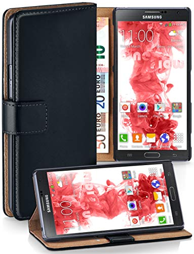 moex® Booklet mit Flip Funktion [360 Grad Voll-Schutz] für Samsung Galaxy Note 3 | Geldfach und Kartenfach + Stand-Funktion und Magnet-Verschluss, Schwarz - Case Galaxy 3 Note Leather Wallet