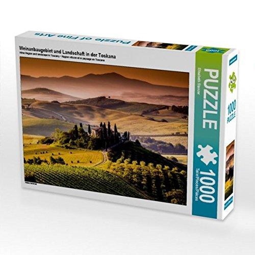 CALVENDO Puzzle Weinanbaugebiet und Landschaft in der Toskana 1000 Teile Lege-Größe 64 x 48 cm Foto-Puzzle Bild von Elisabeth Stanzer