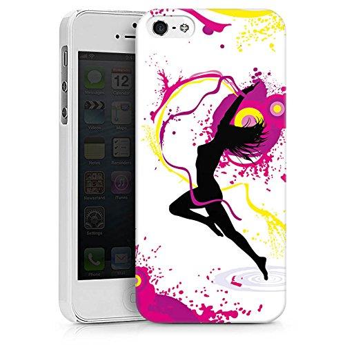 Apple iPhone X Silikon Hülle Case Schutzhülle Frau Tanzen Klecks Hard Case weiß