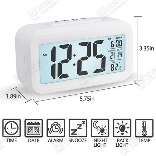 Despertador Digital con Alarma  Arespark Reloj Despertador de 5 3 Pulgadas.Blanco