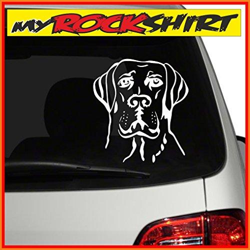 Doggen Hunde-Kopf Motiv-NK21 ca.30cm Aufkleber zum verschönern ihrer Heckscheibe, als Wandtattoo etc. in vielen Farben -