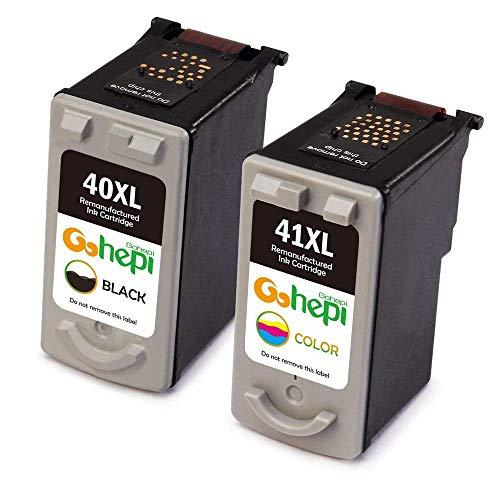 Gohepi PG-40 CL-41 Remanufactured Cartucce Canon PG-40 XL CL-41 XL (1 Nero,1 Tricromia) per Canon PIXMA MX300 MX310 MP190 MP140 MP150 MP160 MP170 MP180 iP2600 MP210 MP220 MP450 MP460 iP1700 iP1800