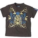 Teddy Boom Baby Jungen T-Shirt braun mit coolem gold metallic Print 86