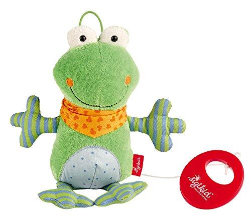 sigikid, Mädchen und Jungen, Spieluhr, Stofftier Frosch, Grün, 40781