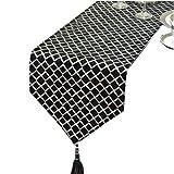 Schwarz Tisch Flagge Blume Tuch Mode Einfache Nordic Kaffee Bett Hochzeit Hotel Bankett 30 cm * 180 cm (größe : 180cm)