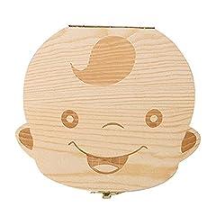 Idea Regalo - Jooayou Dente Da Latte Scatola Per Denti Dei Bambini, Denti Salva Box, Scatola Dentini da Latte Legno (ragazzo)