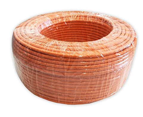 TDA - 50.0M - Cat 7 Reel - Ethernet Cable, Halogen Free 1000 MHz / Copper / Super Fast Network Cable - (PoE)/PoE + ( Orange )