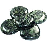 budawi® - Kambamba Jaspis Scheibensteine ca. Ø 40 mm Handschmeichler, Daumensteine preisvergleich bei billige-tabletten.eu