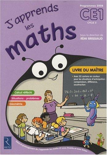 J'apprends les maths CE1 : Livre du maître par Rémi Brissaud, Collectif